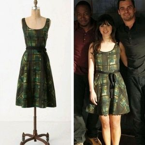 Maeve Anthropologie Painted Plaid Dress 4 Lined